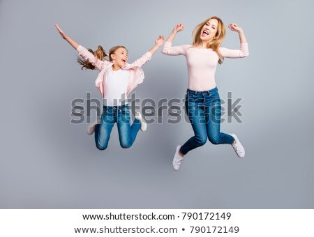 child jumping with mother Stock photo © IS2