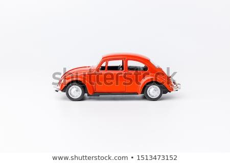 red retro car on white Stock photo © ssuaphoto