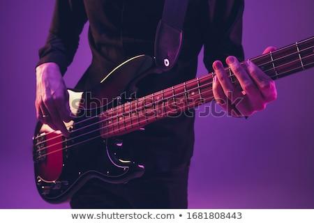 Musicista giocare chitarra studio musica concerto Foto d'archivio © dolgachov
