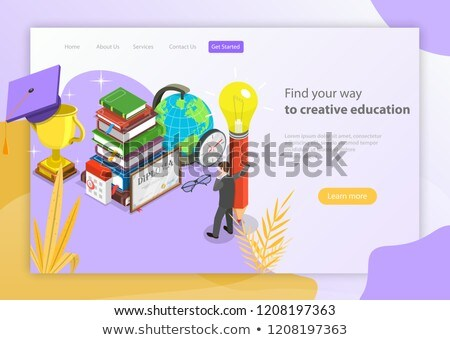 find your way to creative education isometric flat vector ストックフォト © tarikvision