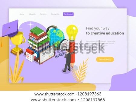 Talál út kreatív oktatás izometrikus vektor Stock fotó © TarikVision