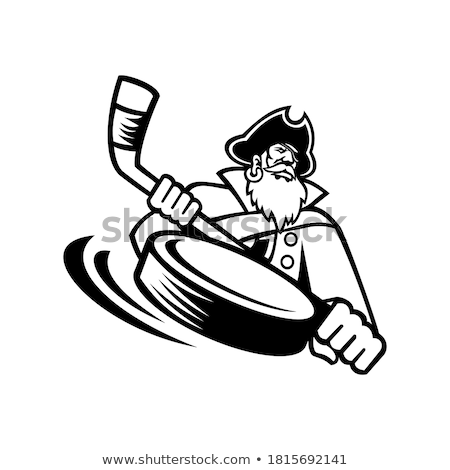 Swashbuckler Ice Hockey Sports Mascot Stock photo © patrimonio