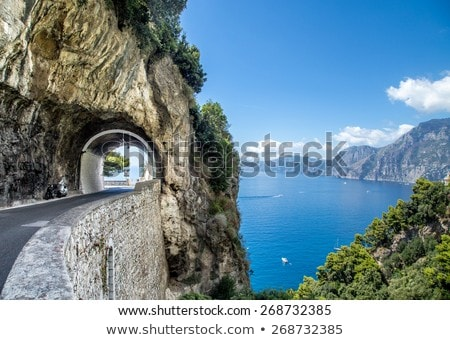 Drogowego wybrzeża Włochy słynny malowniczy lata Zdjęcia stock © neirfy
