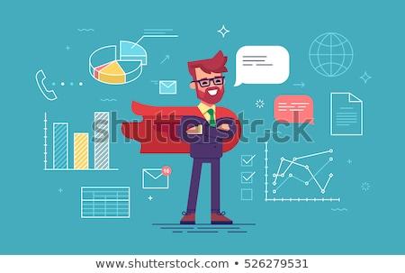 Man held mantel zakenman werken kantoor Stockfoto © robuart