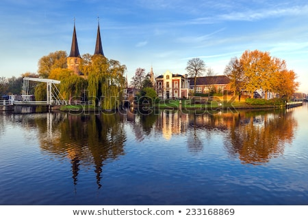 Vieux ville porte Pays-Bas typique pont Photo stock © neirfy