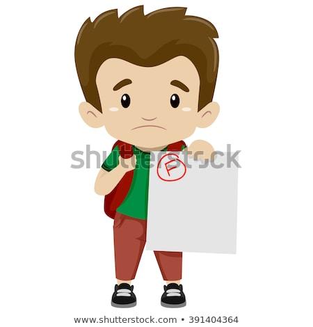 Teen Boy Exam Fail Illustration Stock photo © lenm