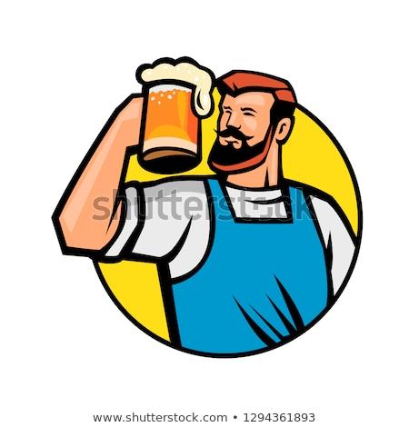 あごひげを生やした ヒップスター ビール マグ サークル ストックフォト © patrimonio