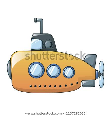 Desenho animado amarelo submarino mar pesquisa transporte Foto stock © Andrei_