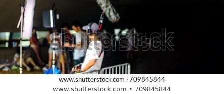 BANNER Blurred picture, background, movie film set Long Format Stock photo © galitskaya
