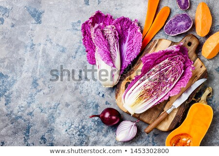 Alkaline diet food, Clean eating. Healthy vegetarian seasonal, fall food cooking background. Stock photo © Illia