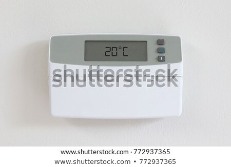 Vintage digital thermostat - Covert in dust Stock photo © michaklootwijk