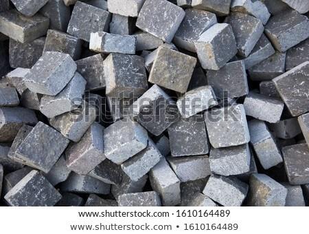 Kamień bloków przygotowany ulicy granitu Zdjęcia stock © boggy