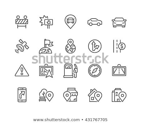 Utazás autó ikon vektor skicc illusztráció Stock fotó © pikepicture