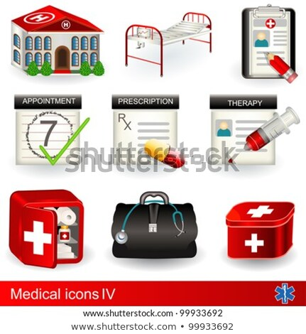 Cartoon medical icons set Stock photo © Voysla
