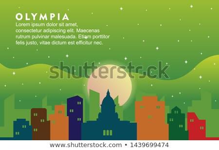 аннотация Вашингтон Skyline цвета зданий Сток-фото © ShustrikS