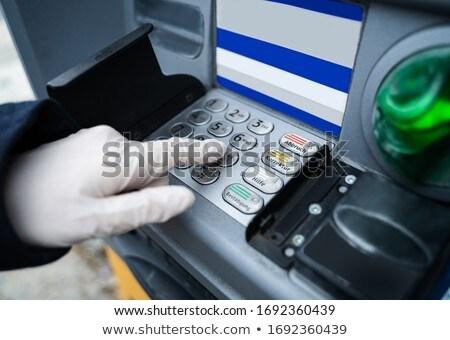 человека перчатки прессы кнопки коронавирус Сток-фото © AndreyPopov
