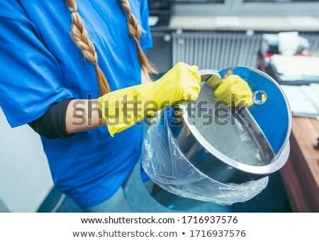Commerciële schoonmaken dame onzin kantoor Stockfoto © Kzenon