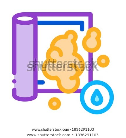water soapy carpet cleaning icon vector outline illustration Stock photo © pikepicture