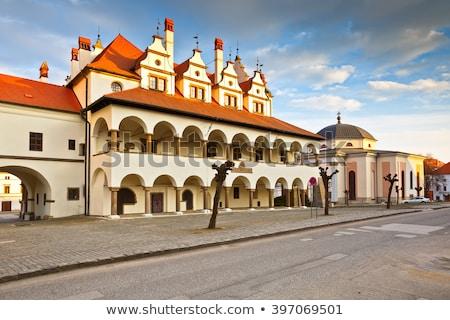 Huizen hoofd- vierkante Slowakije historisch hemel Stockfoto © borisb17