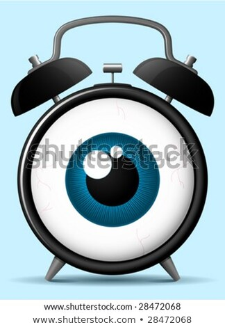 Stock photo: Classic alarm clock with staring eyeball