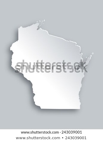 3D harita Wisconsin mavi beyaz Amerika Stok fotoğraf © andreasberheide