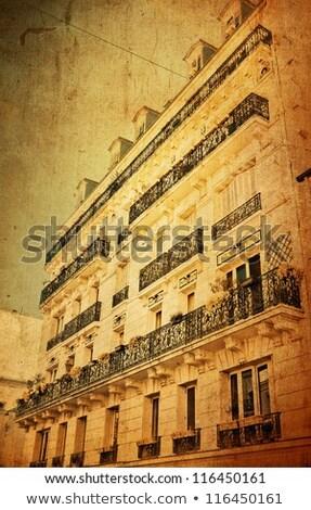 Gyönyörű párizsi utcák könyv levél háttér Stock fotó © ilolab