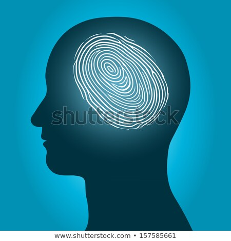 Male head with an enclosed fingerprint Stock photo © adrian_n