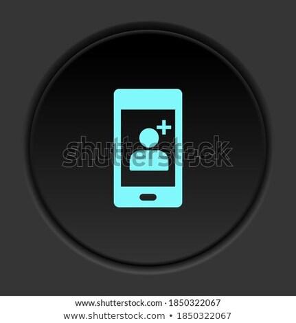Mentő lila vektor ikon gomb internet Stock fotó © rizwanali3d