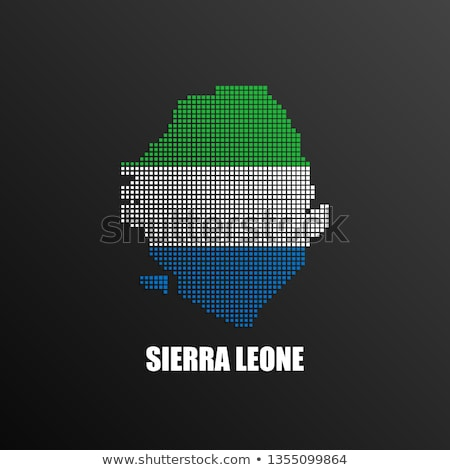 Map of Republic Sierra Leone with Dot Pattern Stock photo © Istanbul2009