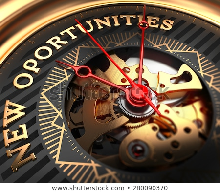 New Opportunities on Black-Golden Watch Face. Stock photo © tashatuvango