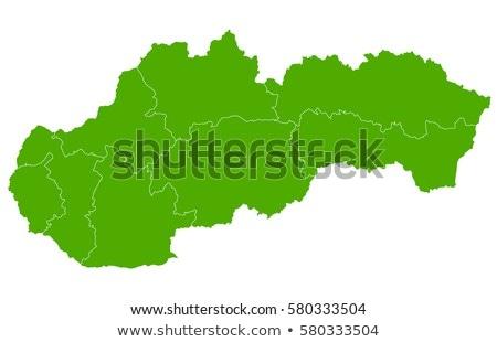 Térkép Szlovákia háttér vonal keret vektor Stock fotó © rbiedermann