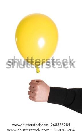 man holding baloonn isolated Stock photo © shutswis