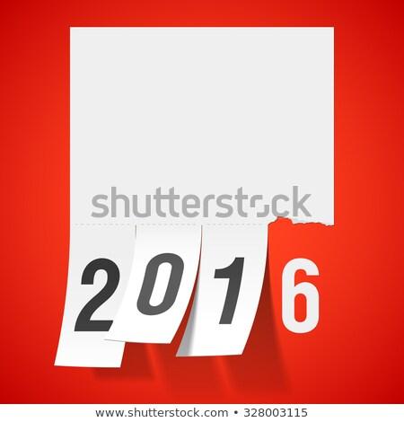 happy new year 2016, cut off Stock photo © marinini