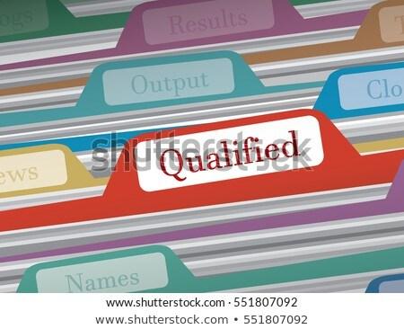 Alkalmas üzlet mappa katalógus kártya közelkép Stock fotó © tashatuvango