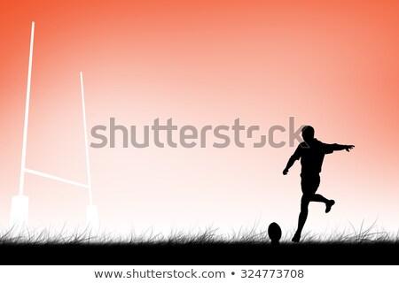 Rugby player doing a drop kick Stock photo © wavebreak_media