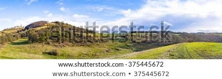 Célèbre médiévale ciel bleu terres paysage Photo stock © meinzahn