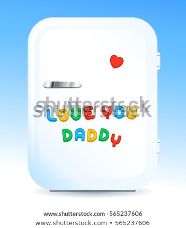 fridge with letter magnets sign love you daddy stock photo © adrian_n