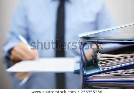 people management on folder blurred image stock photo © tashatuvango