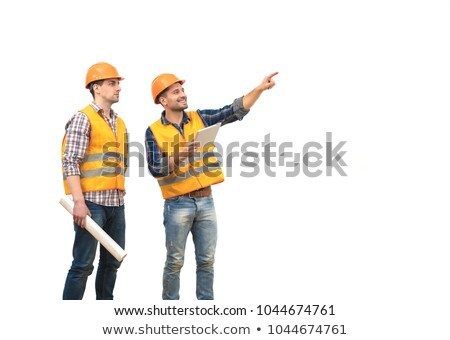 Two people standing in empty building Stock photo © IS2