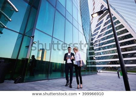Avrupa personel çift iş suit genç Stok fotoğraf © studioworkstock