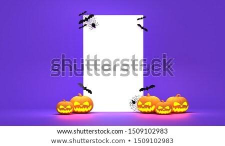 Calabaza de halloween 3D fantasma Foto stock © Wetzkaz