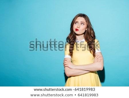 Ritratto irritato abito isolato rosso Foto d'archivio © deandrobot