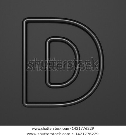 Siyah mektup d 3D 3d illustration Stok fotoğraf © djmilic