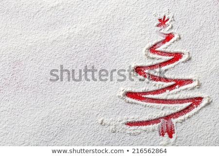 Karácsony hópelyhek hó liszt copy space felső Stock fotó © Bozena_Fulawka