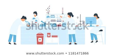 Wissenschaftler Labor Experiment Mann medizinischen Werkzeuge Stock foto © Kzenon