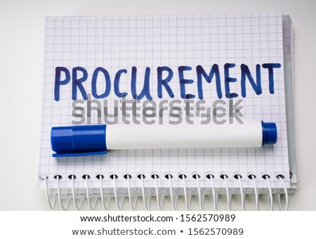 Checked Notebook Showing Procurement Text And Marker Stock photo © AndreyPopov
