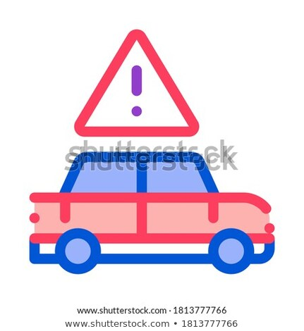 Car Danger Obstruction Icon Vector Outline Illustration Stock photo © pikepicture