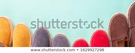 Szalag négy pár menta szín felső Stock fotó © Illia
