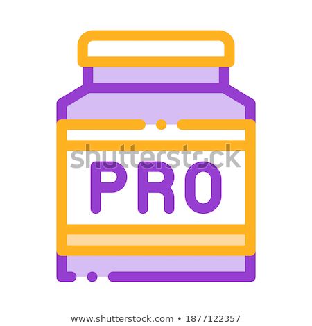 Bottle Pro Sport Nutrition Vector Thin Line Icon Stock photo © pikepicture