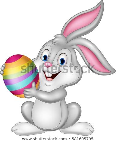 Cartoon Easter Bunny easter egg illustratie vrolijk pasen bunny Stockfoto © izakowski
